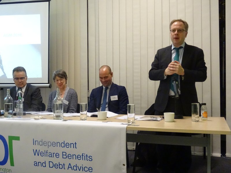 Councillor Richard Watts, Leader of Islington Council opening the IPR AGM