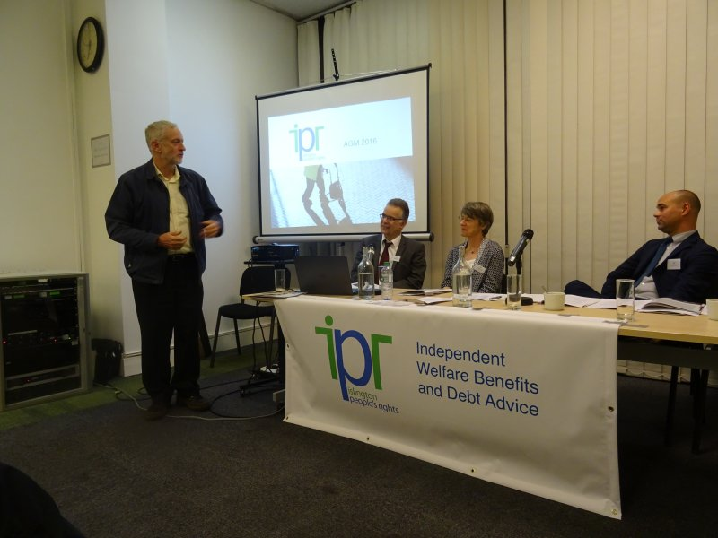 Jeremy Corbyn MP addresses the IPR AGM